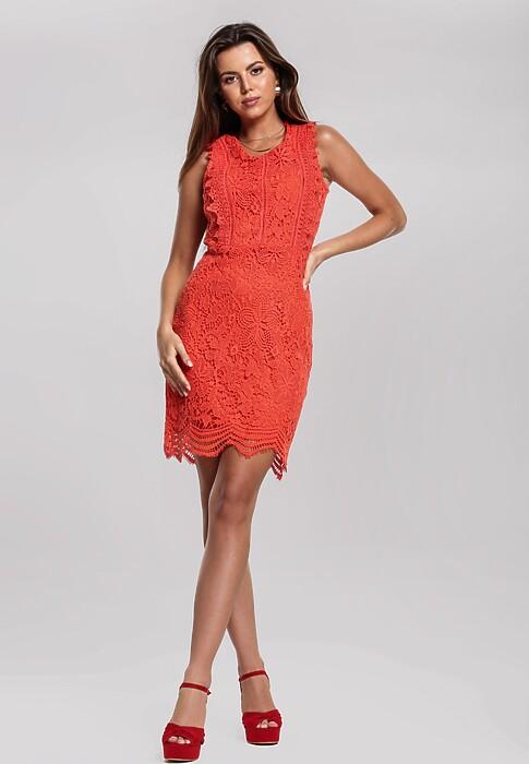 Pomarańczowa Sukienka Drop By