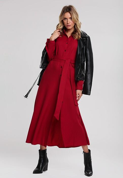 Bordowa Sukienka Whither