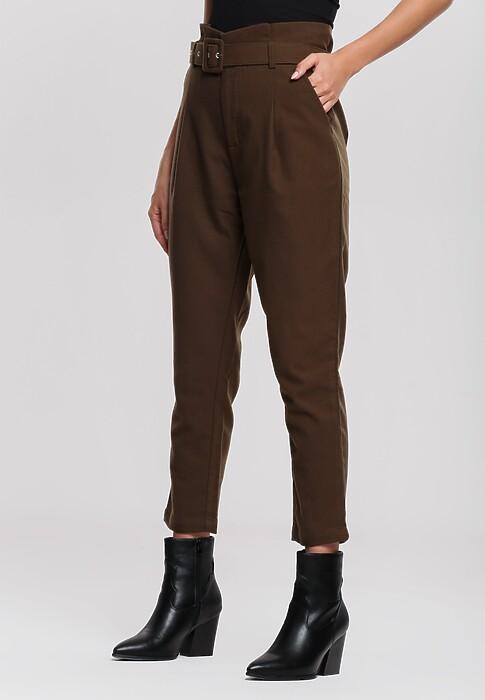 Ciemnozielone Spodnie Edgware