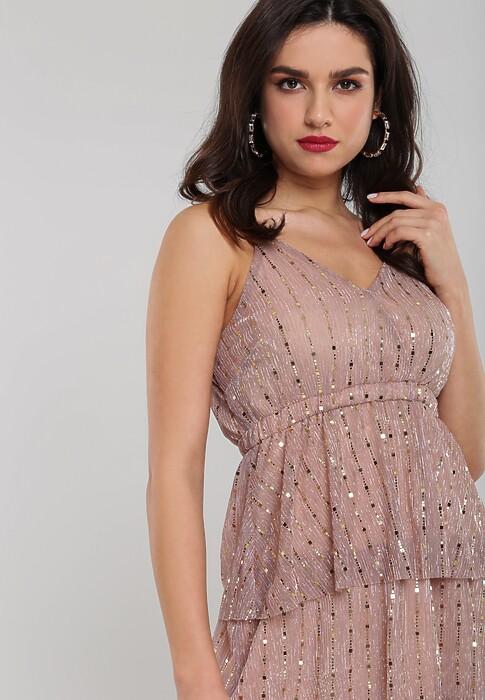 Ciemnoróżowa Sukienka Natheless