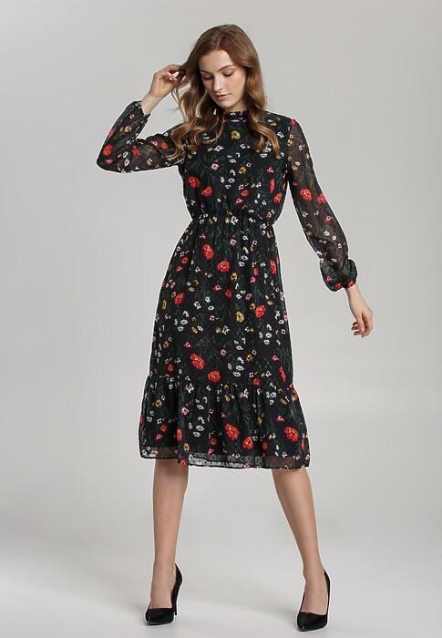 Czarna Sukienka Les Lilas