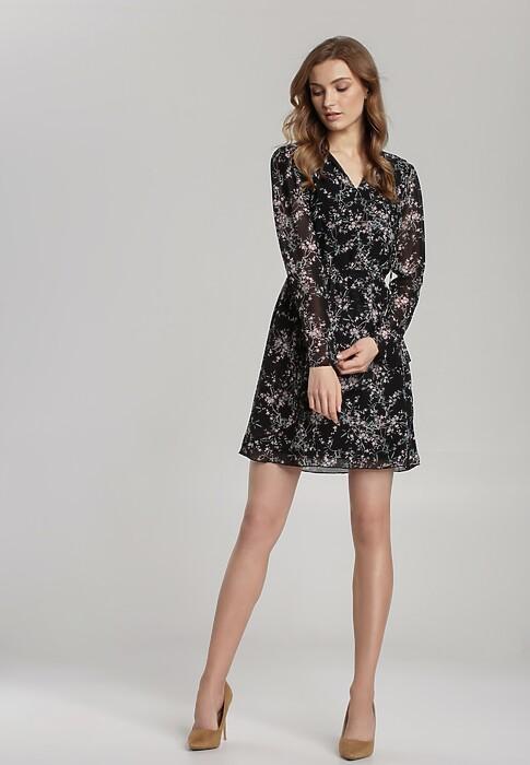 Czarno-Fioletowa Sukienka Campinas