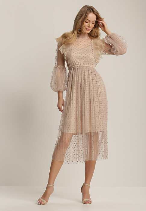 Beżowa Sukienka Izzie