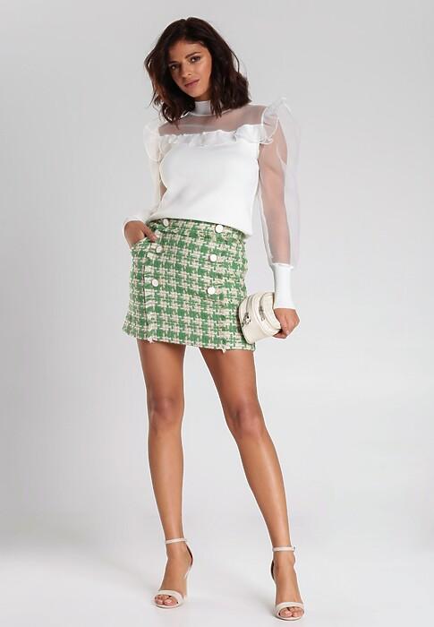 Zielono-Beżowa Spódnica Contreras