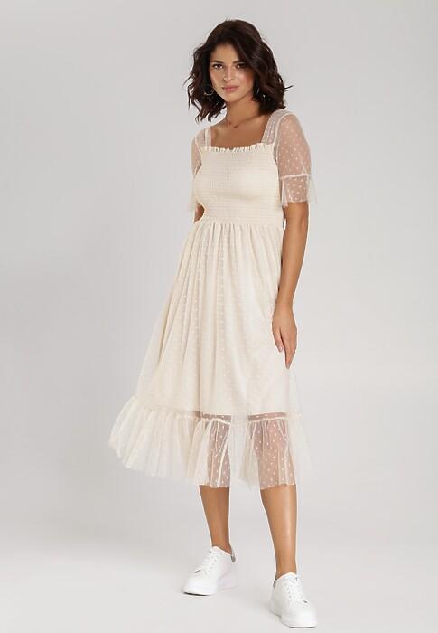 Jasnobeżowa Sukienka Bolionei