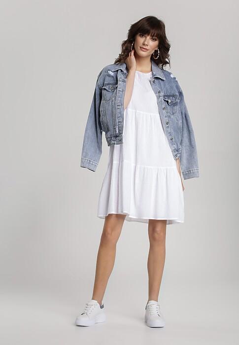 Biała Sukienka Knollham
