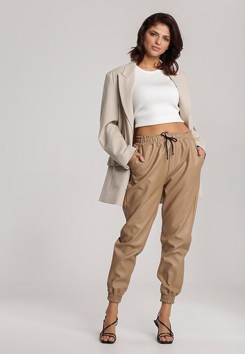 Beżowe Spodnie Delorissa