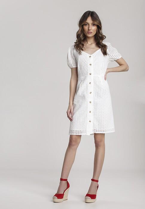 Biała Sukienka Cherinelle