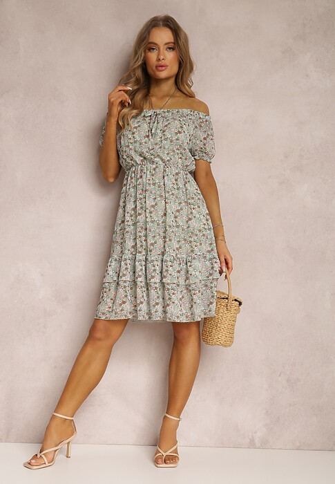 Jasnozielona Sukienka Oripise