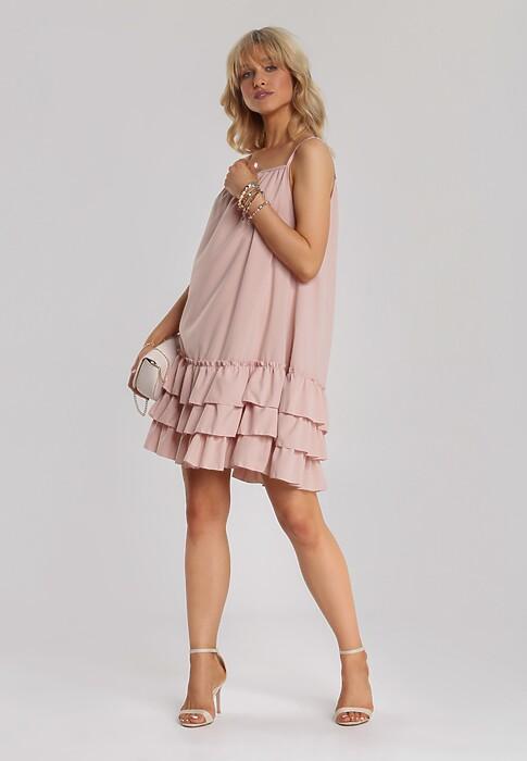 Ciemnoróżowa Sukienka Adrilora