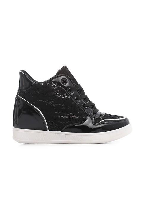Czarne Sneakersy Artmaker