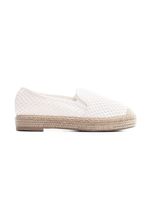 Biale Espadryle Abstain