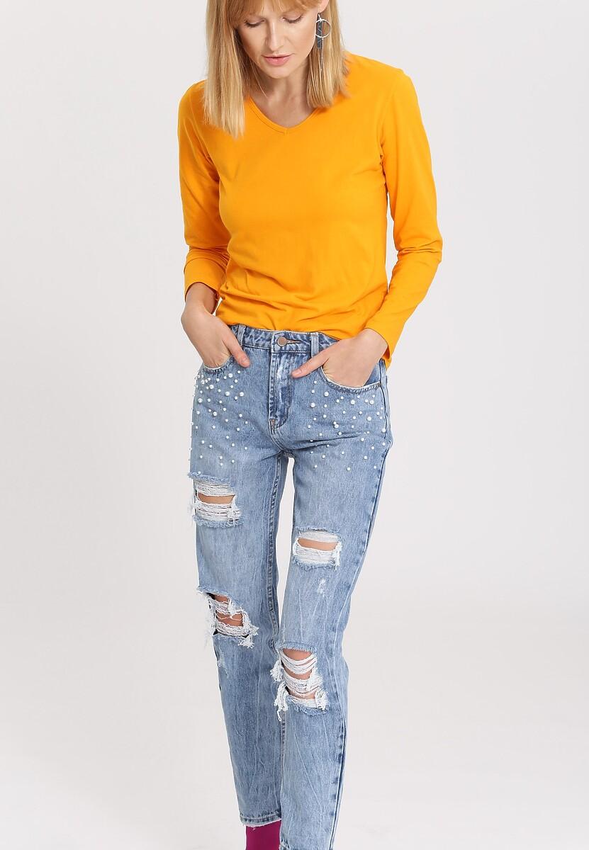 Pomarańczowa Bluzka Laxity