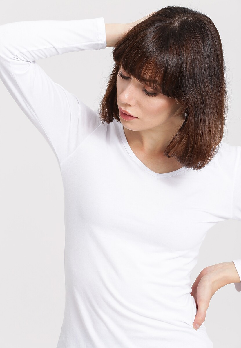 Biała Bluzka Laxity