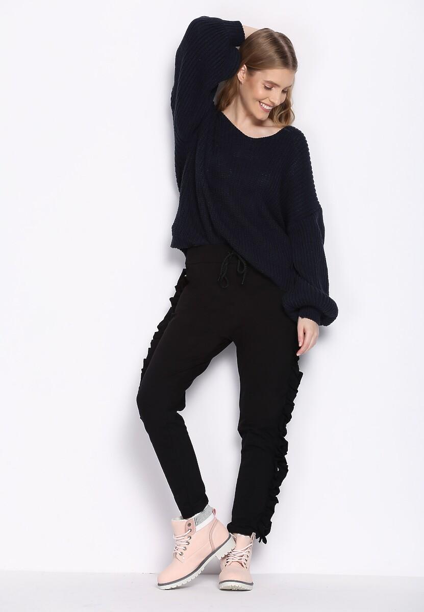 Czarne Spodnie Dresowe Baby Baby