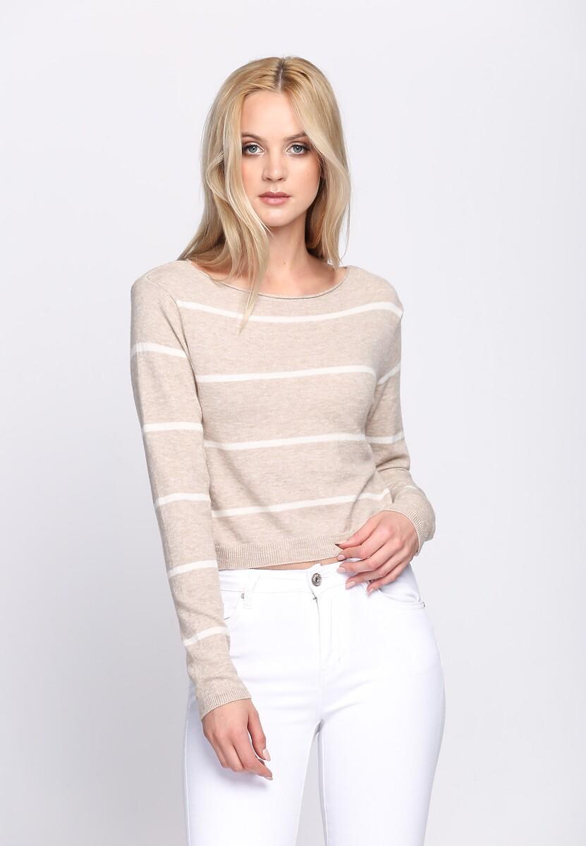 Beżowy Sweterek Dilate