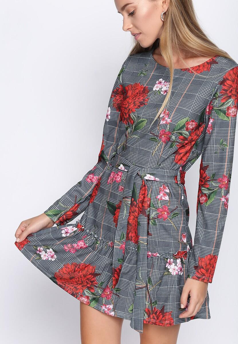Czerwono-Szara Sukienka Second Love