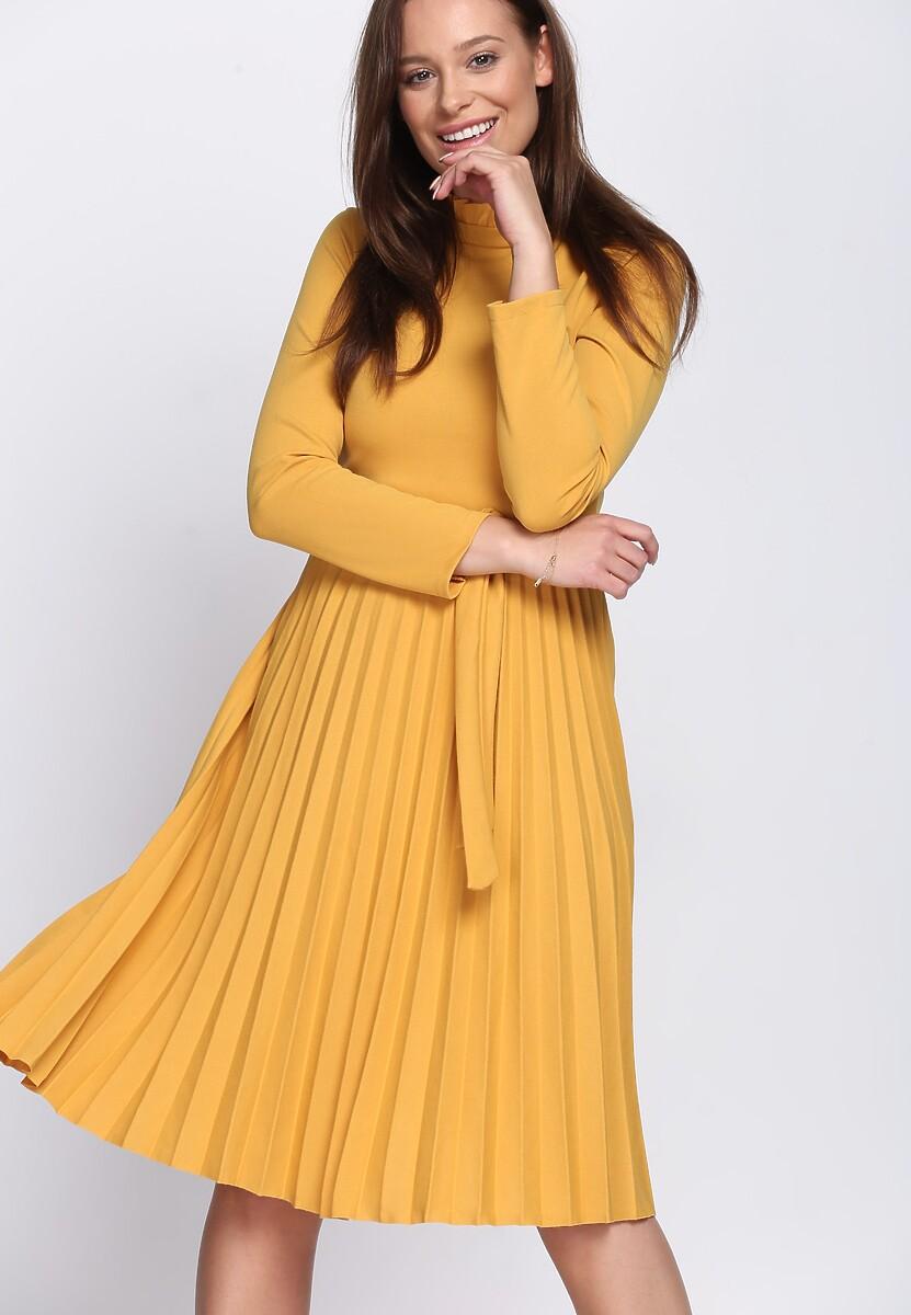 Żółta Sukienka Story Of Vogue