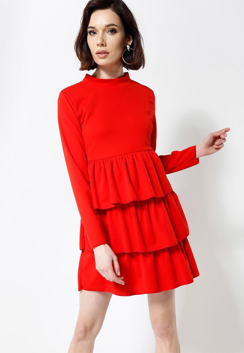 Czerwona Sukienka Modesty And Chic