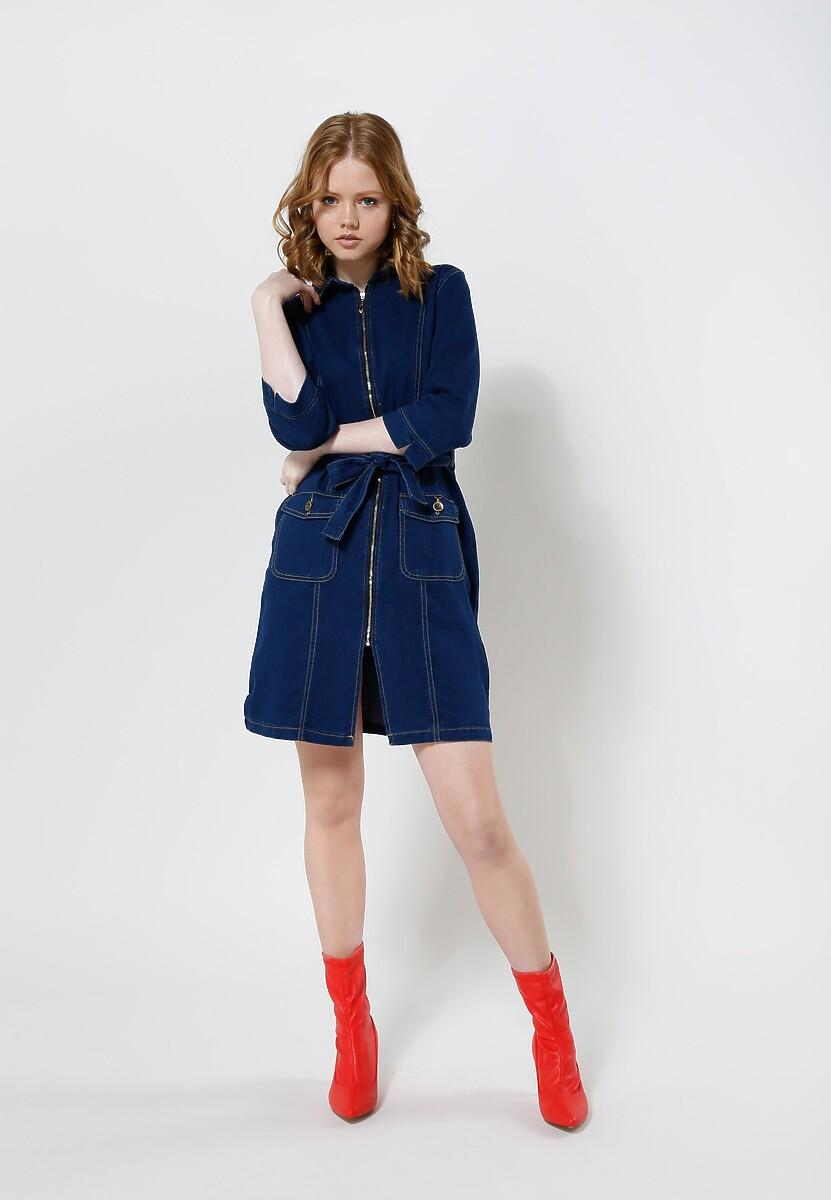 Granatowa Sukienka Imperative