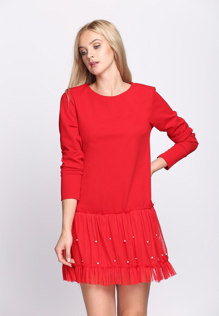 Czerwona Sukienka Fine Detail