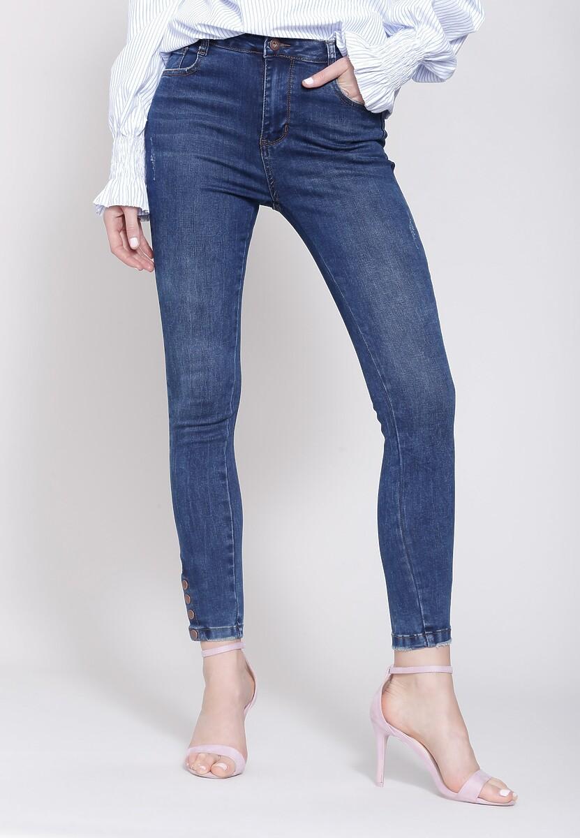 Ciemnoniebieskie Jeansy Tailored Fit