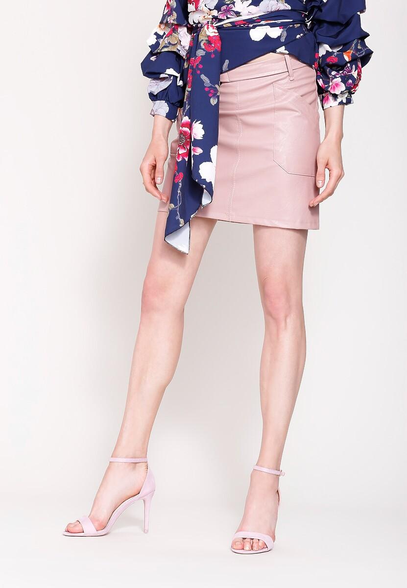 Różowa Spódnica Geometric