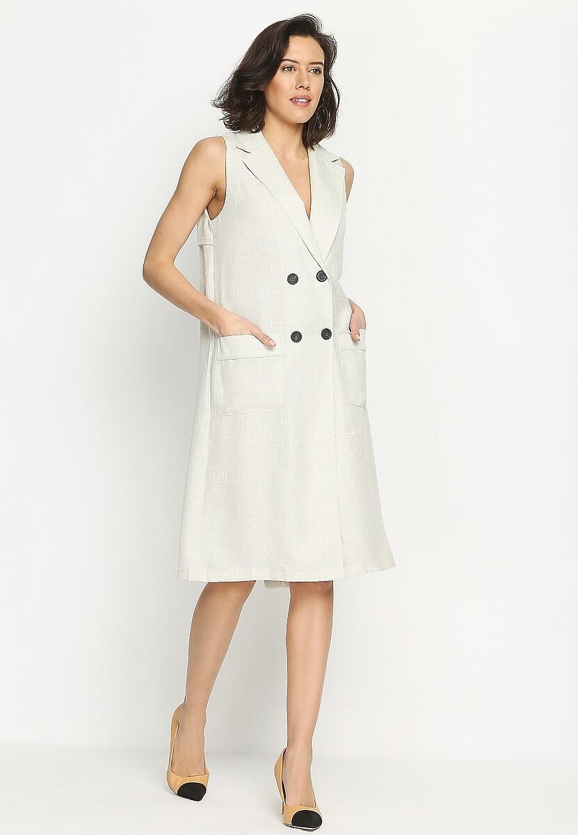 Kremowa Sukienka Elegance And Chic