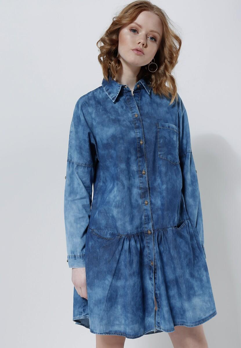 Niebieska Sukienka Blue Ivy