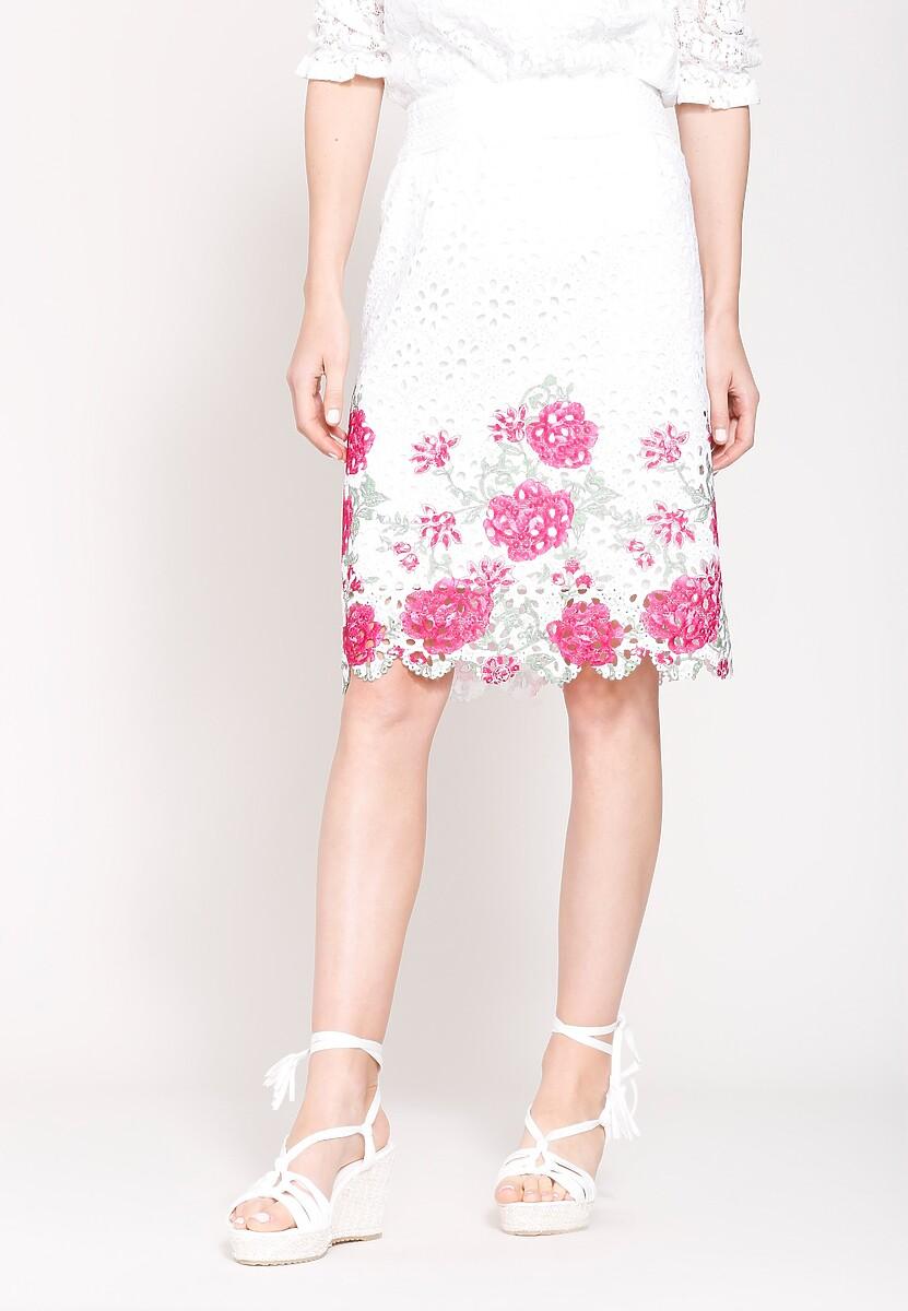 Biało-Czerwona Spódnica Cyme