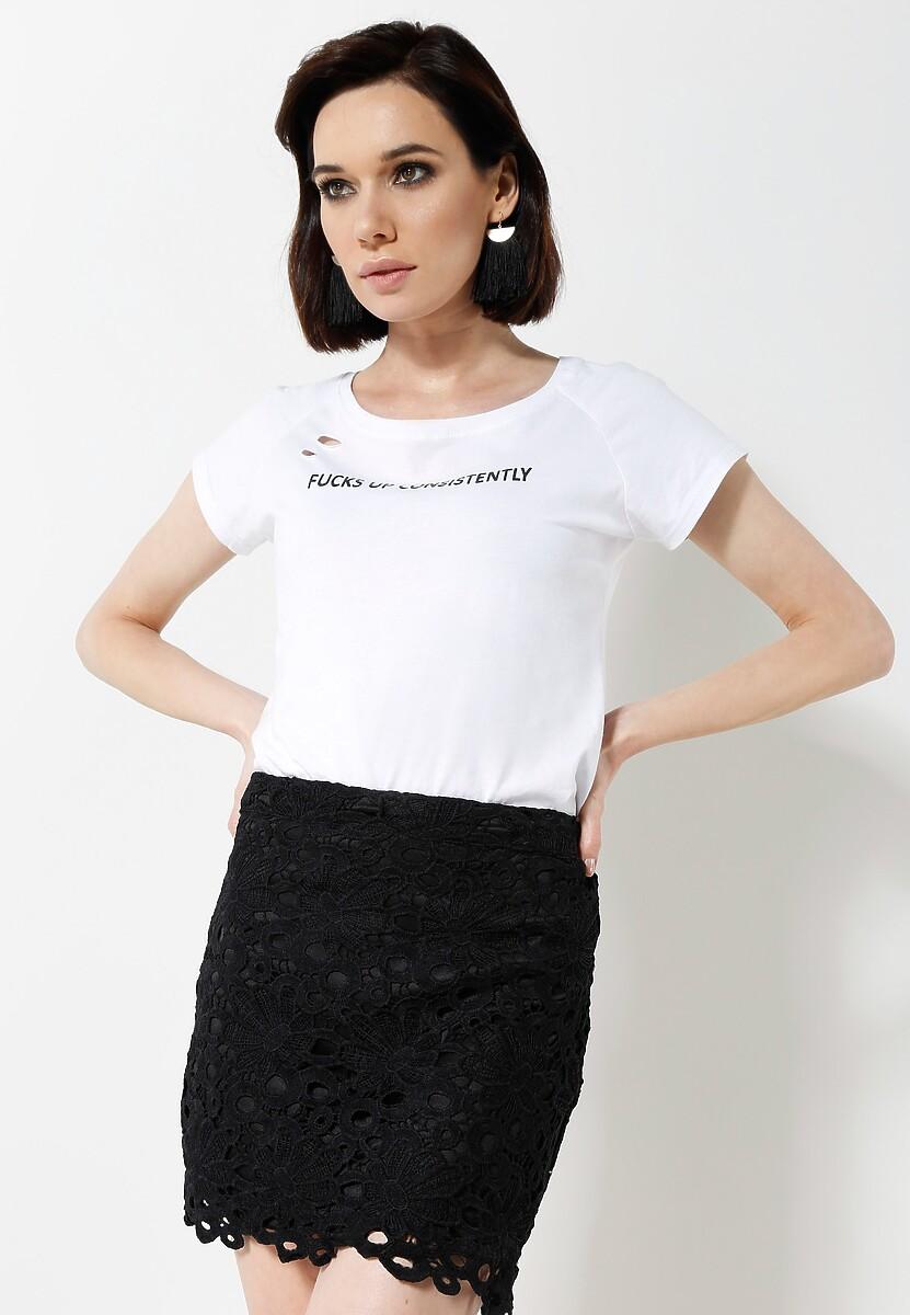 Czarna Spódnica Minie