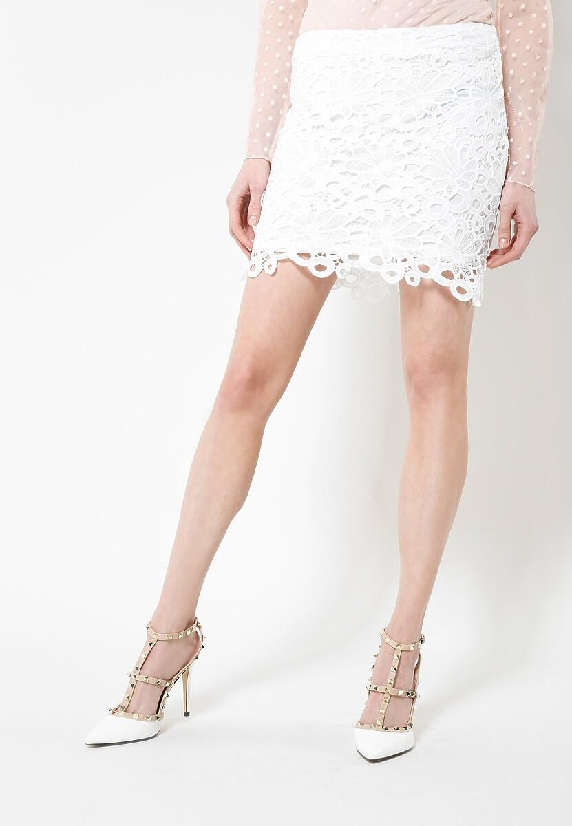 Biała Spódnica Minie