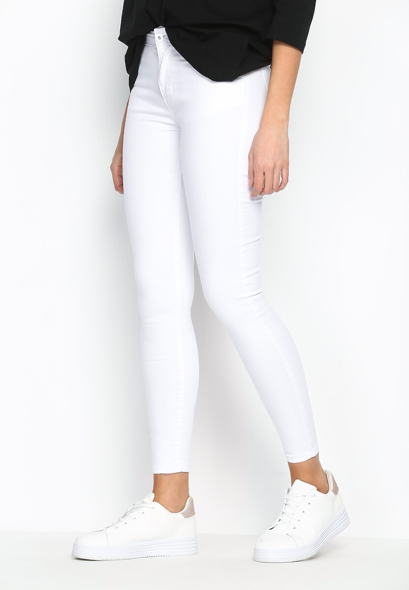 Białe Jeansy Pure Whiteness