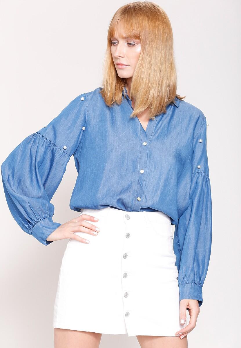 Niebieska Koszula Romantic Idea