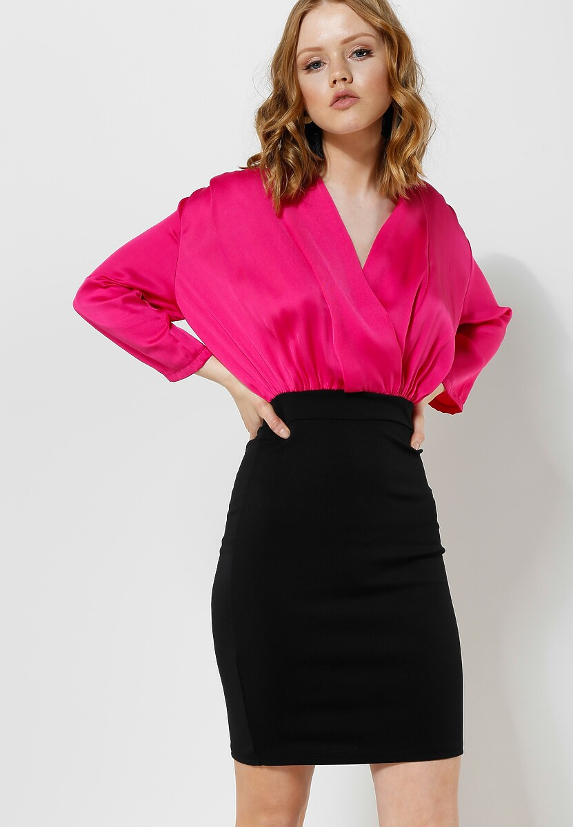 Fuksjowa Sukienka Silk Shades