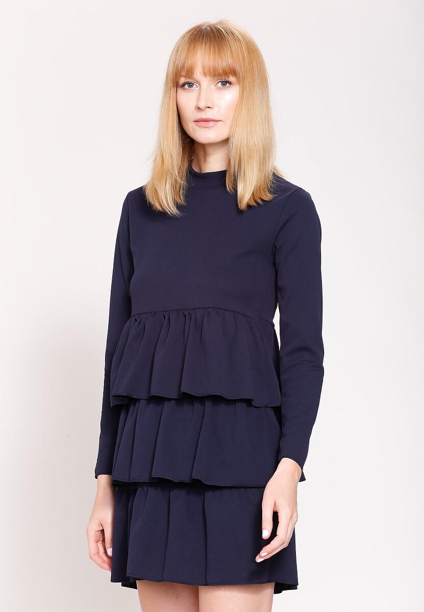 Granatowa Sukienka Modesty And Chic