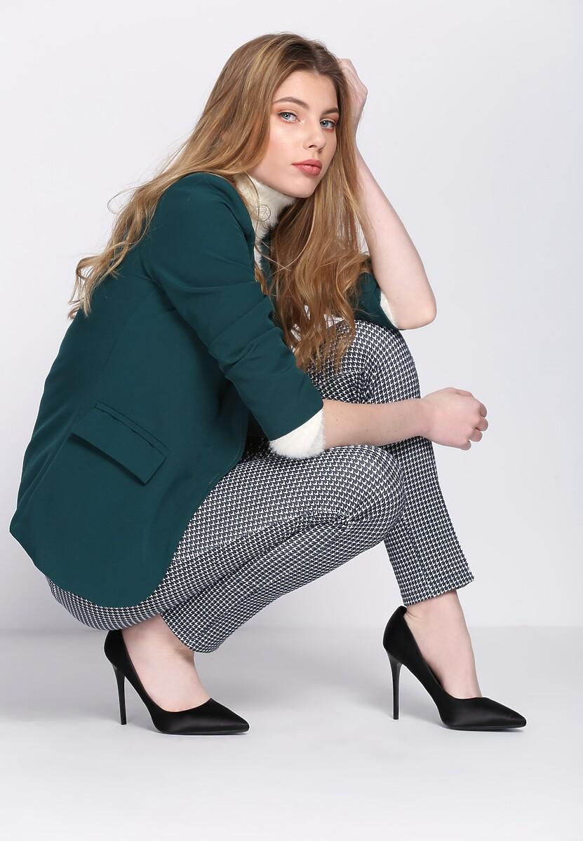 Granatowe Spodnie Easy Shape