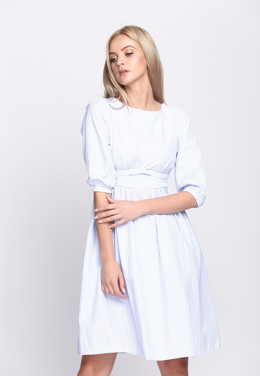 Niebieska Sukienka Thumbelina