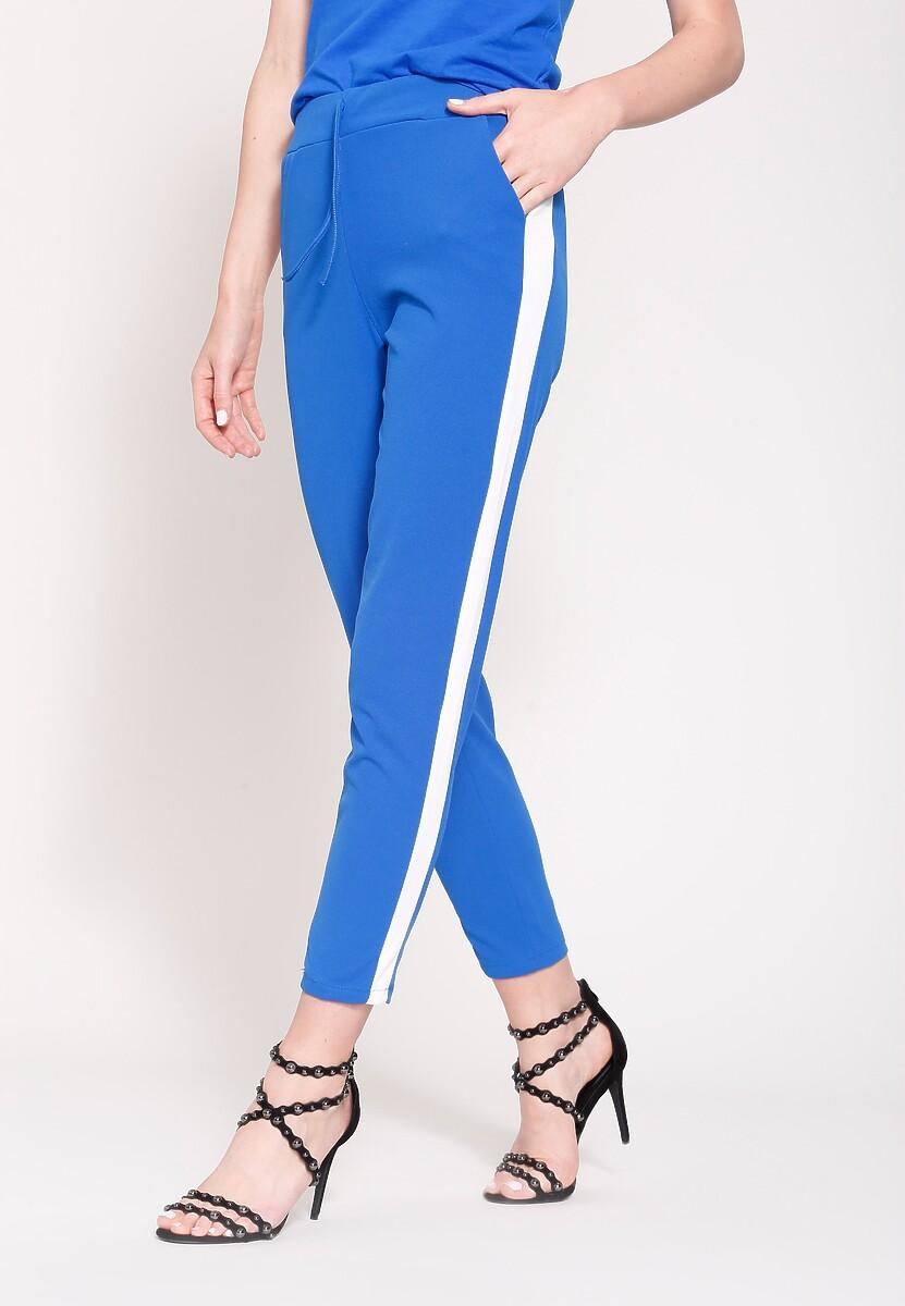 Kobaltowe Spodnie Dresowe Sporty Glow