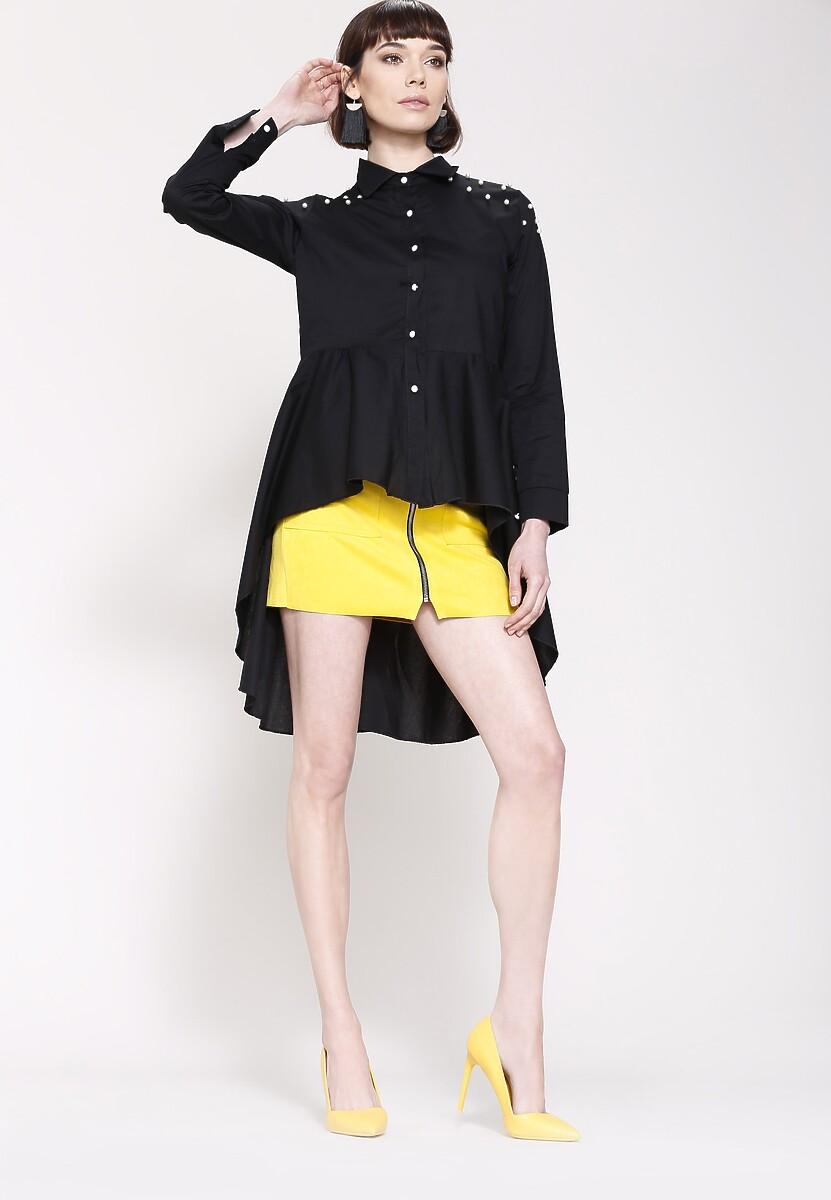 Czarna Koszula Shirt Dress