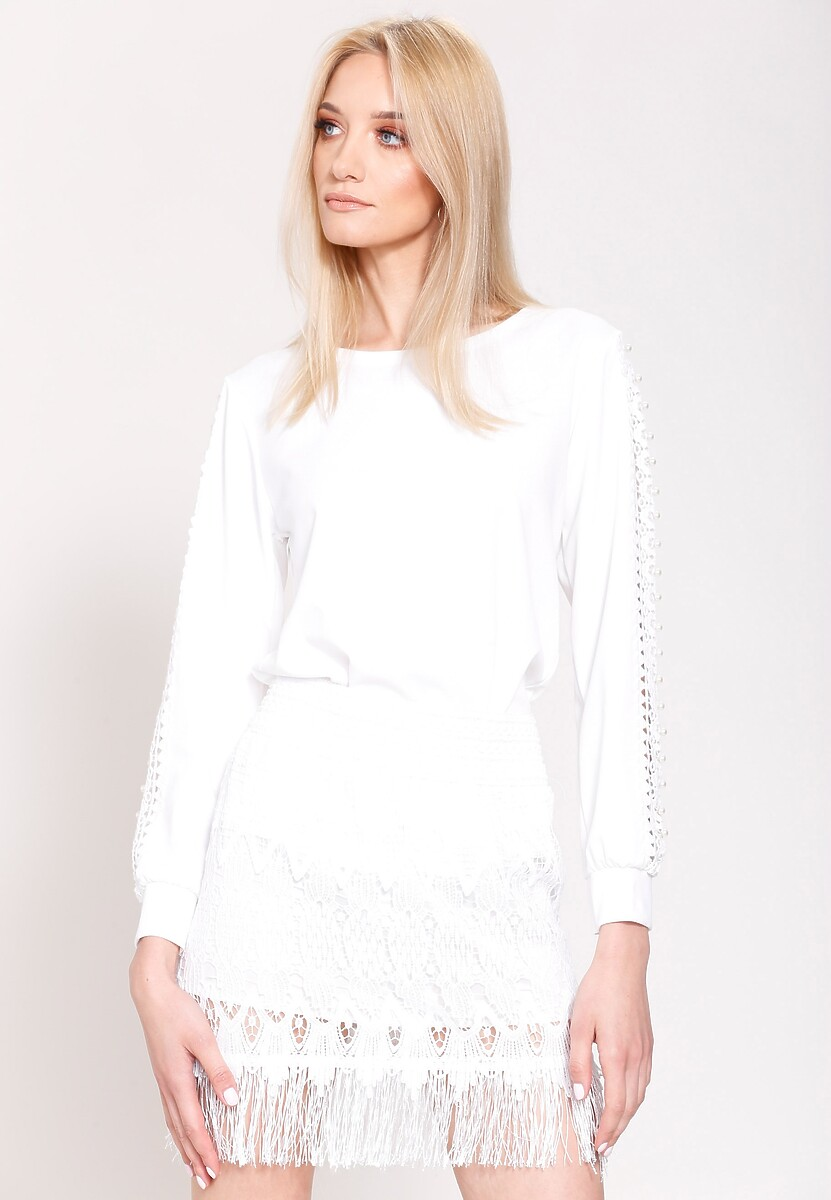 Biała Bluzka Lace Lines