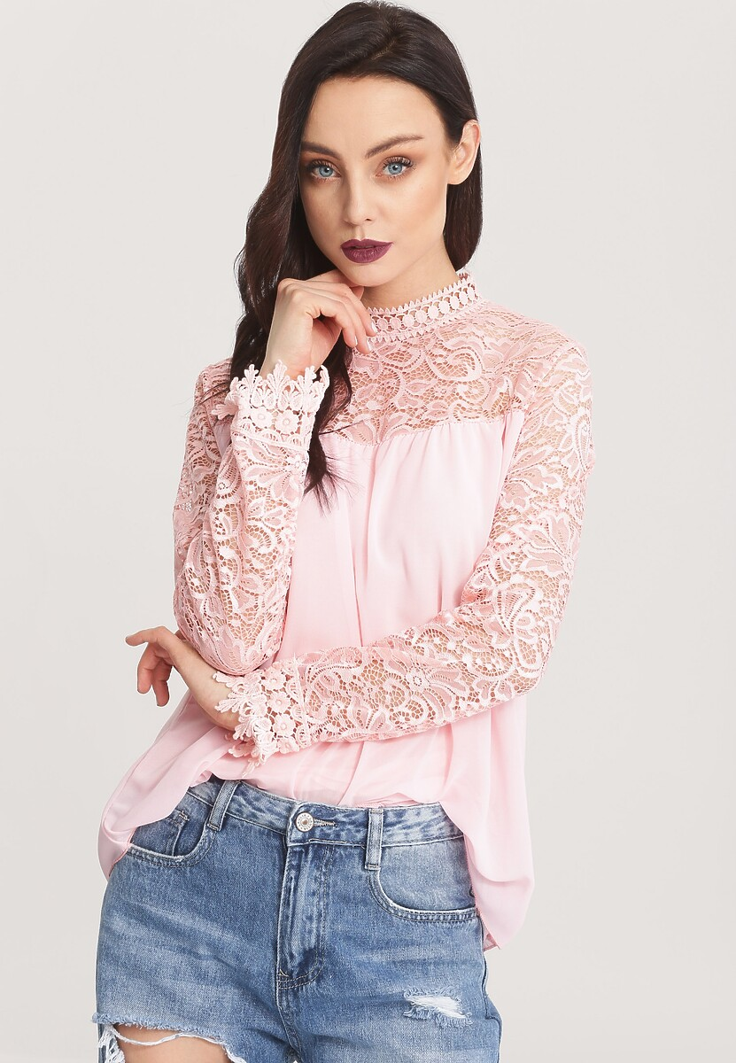 Różowa Bluzka Age Of Fashion
