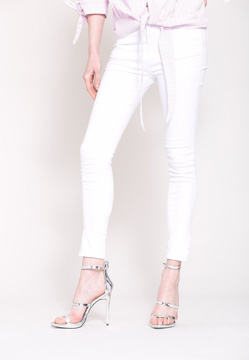Białe Jeansy Monochromatic