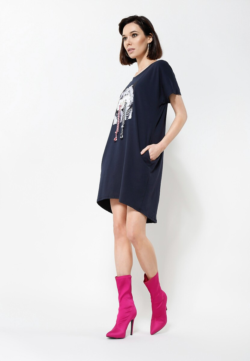 Granatowa Sukienka Fame Lover