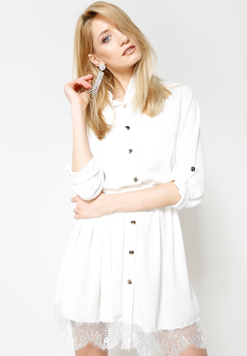 Biała Sukienka Come Joining