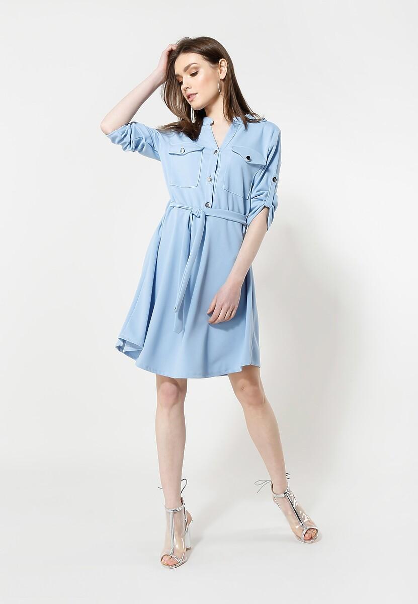 Niebieska Sukienka Remarkable