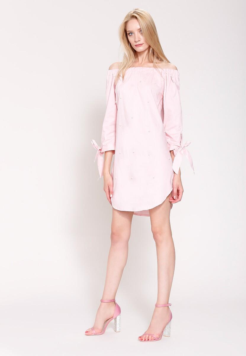 Różowa Sukienka Let It Be
