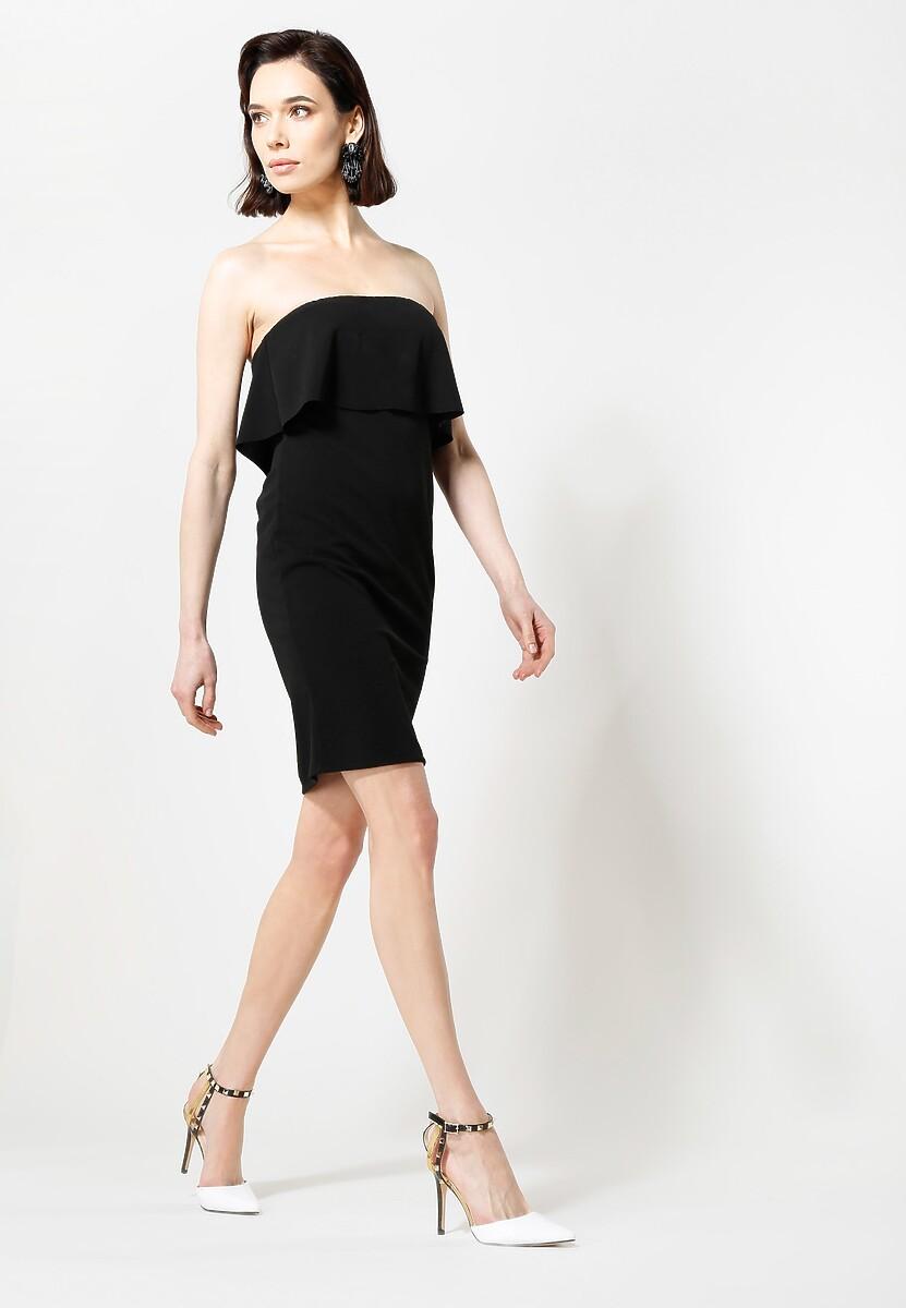 Czarna Sukienka Falbala