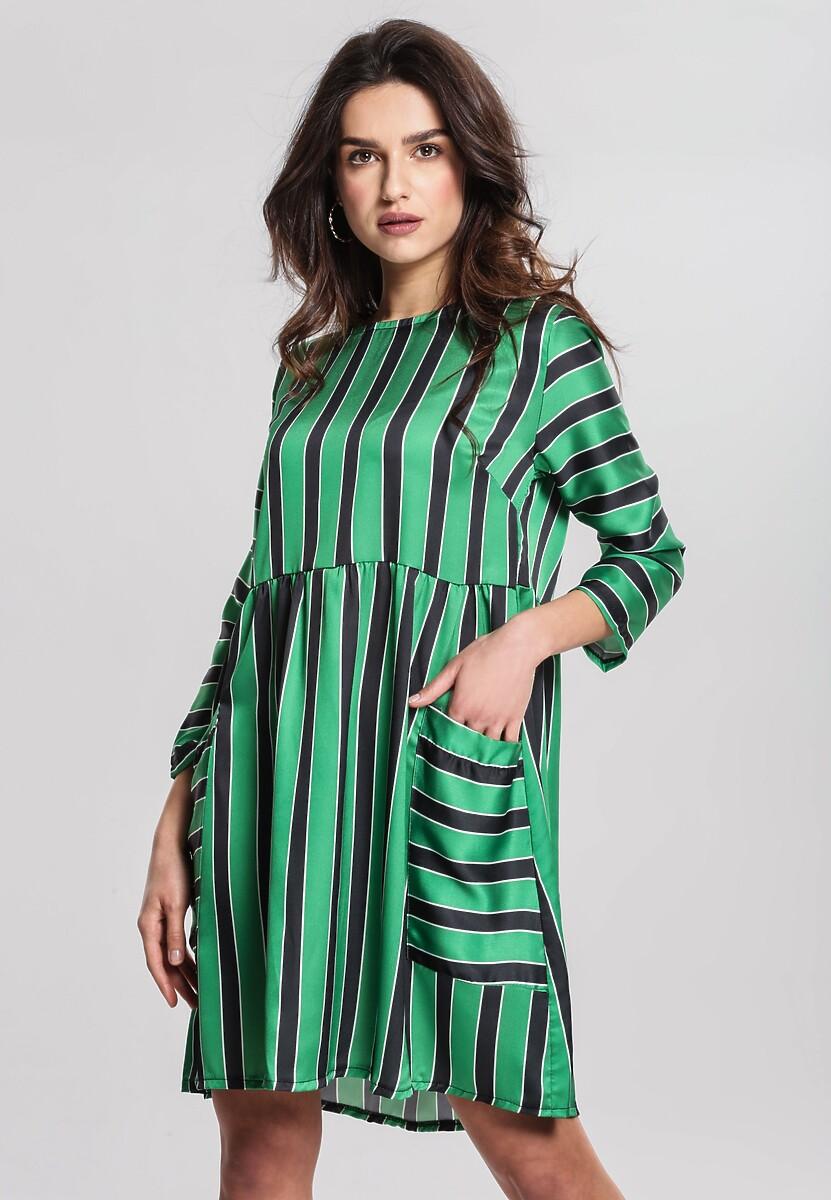 Zielona Sukienka Straight Line