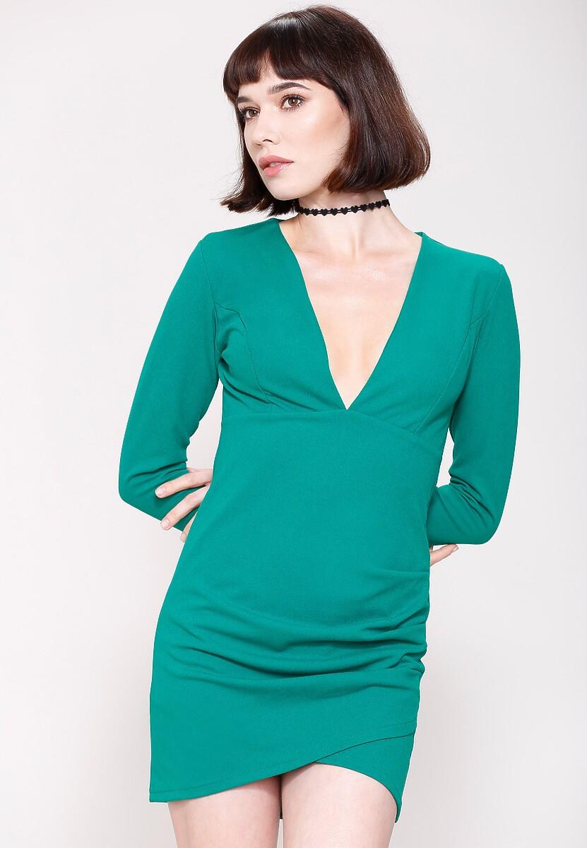 Zielona Sukienka Big V